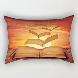Escaped Thoughts Rectangular Pillow