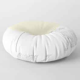 Bite the moon Floor Pillow