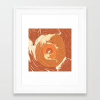 foxes Framed Art Prints featuring Foxes by Beesants
