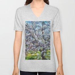 Almond Blossom Unisex V-Neck