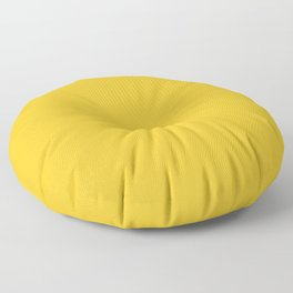 Ripe mango - solid color Floor Pillow