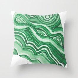 Malachite Specimen I Throw Pillow