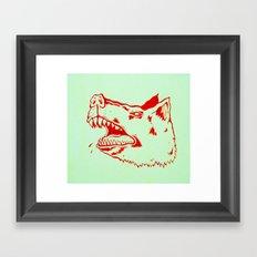 rabid dogs bite Framed Art Print