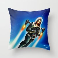 christ Throw Pillows featuring Cosmic Christ by Saint Lepus