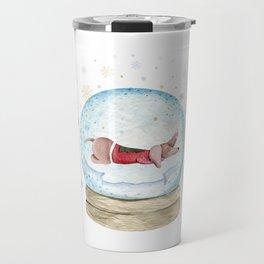 Dog Snow Globe (3) Travel Mug