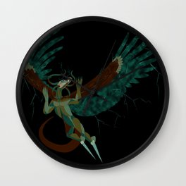 Monster of the Sky - Color Wall Clock