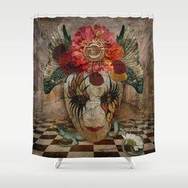 Venetian Mask in Fantasy World Shower Curtain