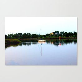 Sampit River Sailboat Canvas Print