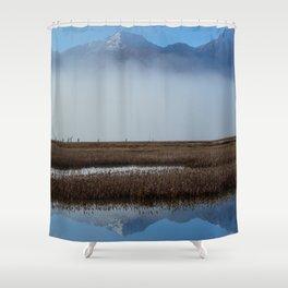 Autumn Mist Reflection Shower Curtain