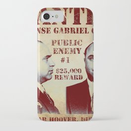 Al Capone FBI Wanted Poster iPhone Case