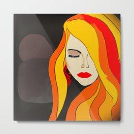 Redhead Beauty 2 Metal Print