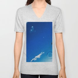 Soap Bubble and Moon Photography Unisex V-Neck