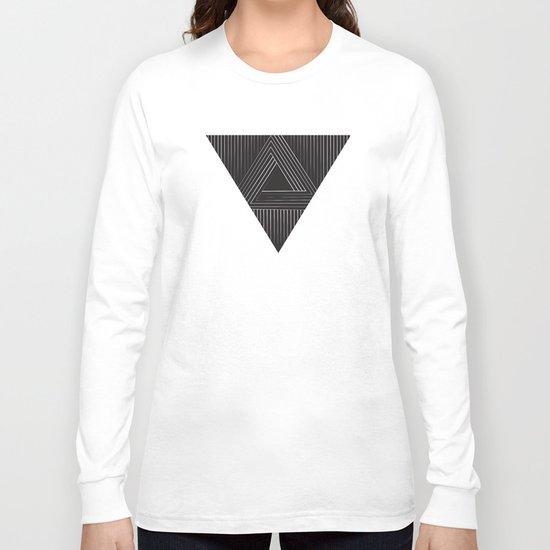 Triangular Line Long Sleeve T-shirt