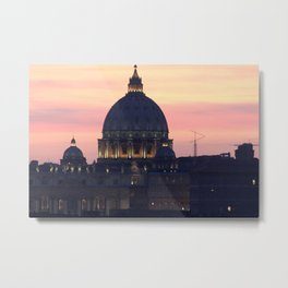 Night At The Vatican Metal Print