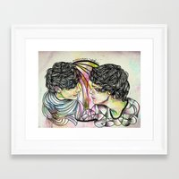larry stylinson Framed Art Prints featuring Larry by Peek At My Dreams