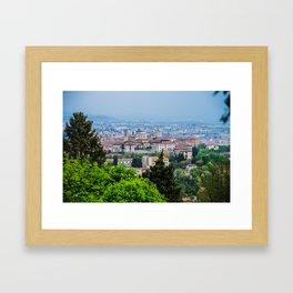 Bergamo, Citta Alta city view Framed Art Print
