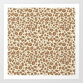 Leopard spots animal pattern print minimal basic home decor safari animals Kunstdrucke
