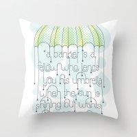 umbrella Throw Pillows featuring Umbrella by Jude Landry