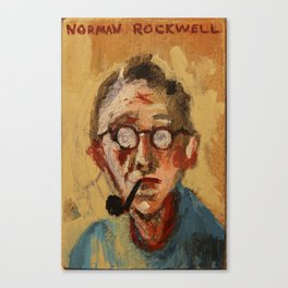50 Artists: Norman Rockwell Canvas Print