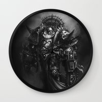 warhammer Wall Clocks featuring Champion Of Chaos Undivided by Pavel Sokov