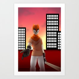 See ya at sunset Art Print