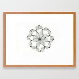 Abstract Circle Framed Art Print