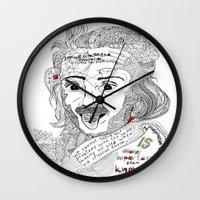 einstein Wall Clocks featuring Einstein by Ina Spasova puzzle