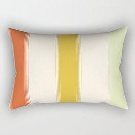 70s Retro Gradient Stripes Rectangular Pillow