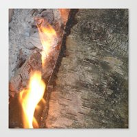 swedish Canvas Prints featuring Swedish fire by ilsephilips