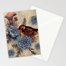 Bird Blue Roses Stationery Cards