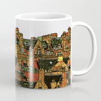 edinburgh Mugs featuring Edinburgh by dacarrie