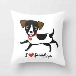 I love farmdogs Throw Pillow