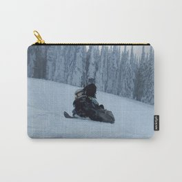 Snowmobiling Fool Carry-All Pouch