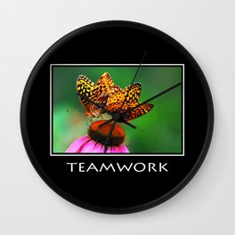 Inspirational Teamwork Wall Clock