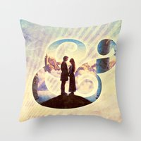 princess bride Throw Pillows featuring Princess Bride by Emmy Winstead