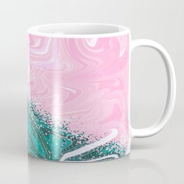 Abstract Texture Pattern 01 – Pink & Turquoise Coffee Mug
