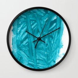 Turquoise Nail Polish Wall Clock