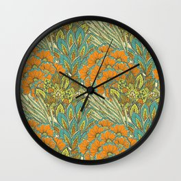 Floral Tropical pattern Wall Clock