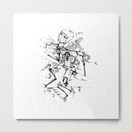 R0B0-H34RT (Robot Heart) Metal Print