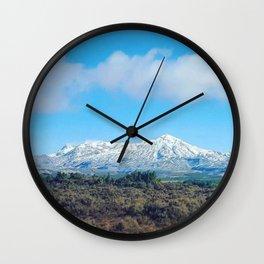 Mt Ruapahu Wall Clock