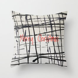 Best foot forward - Merry Christmas Throw Pillow