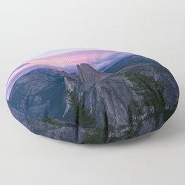 Yosemite National Park at Sunset Floor Pillow