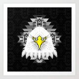Geometric Eagle Art Print