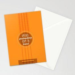 Stop pretending art is hard (orange) Stationery Cards