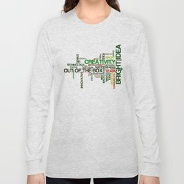 Word cloud with inspiring phrases Long Sleeve T-shirt