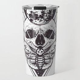 Sacred Geometry Skull Travel Mug