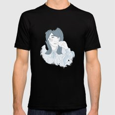Françoise Hardy SMALL Mens Fitted Tee Black