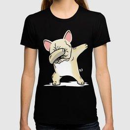 Funny Cream French Bulldog Dabbing T-shirt