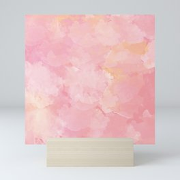 Rose Marble Watercolor #marble #watercolor #artwork #rose #blush #kirovair #homedecor #abstractart Mini Art Print