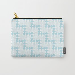 Teal pear curvy funny shaped lines pattern Carry-All Pouch
